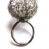 A Cocktail Ring Of Stainless Steel. Low tech: stainless steel wire